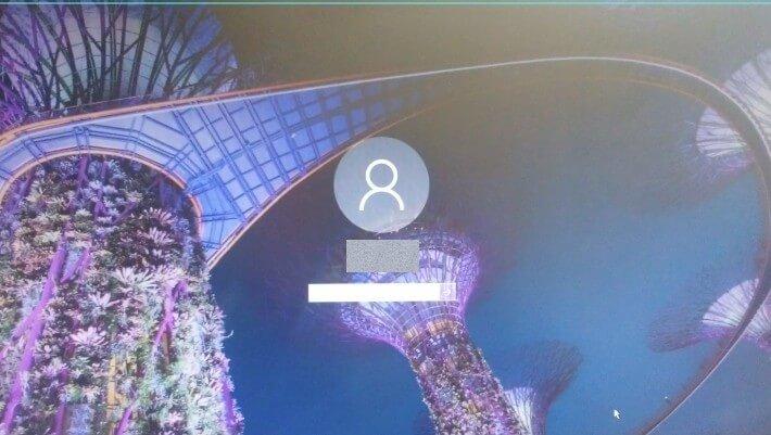 Windows10のログイン画面